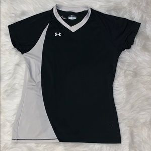 Under Armour Shirts & Tops - UA YM Boys V-Neck Mesh Short Sleeve Shirt
